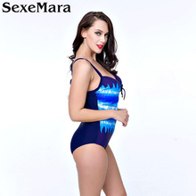 One Piece Plus Size Swimwear Women Brazilian Swimsuit Bandage Sexy Beachwear Monokini Retro Swimsuit One-piece Swimwear