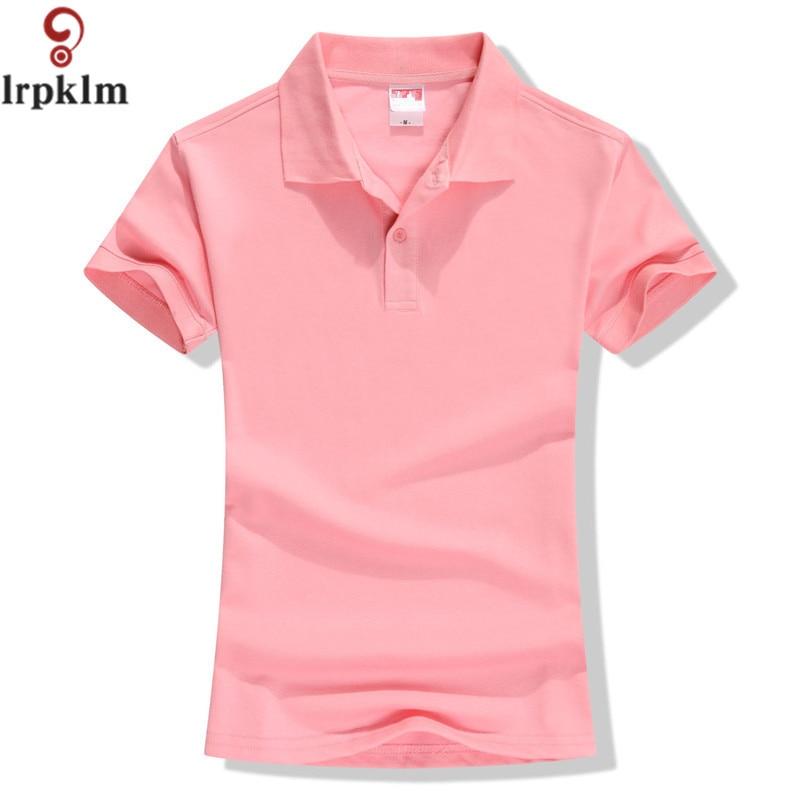 New 2018 Summer Brand Solid Polo Women Shirt Slim Short Sleeve Camisa Polo Shirt Polo Femme Women Casual Shirts Clothing YY417