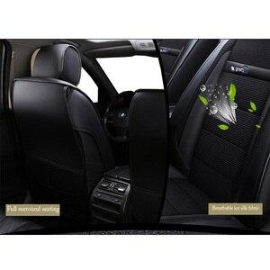 Image 4 - חדש יוקרה עור אוניברסלי רכב מושב כיסוי עבור טויוטה כל מודלים טויוטה rav4 טויוטה קורולה chr לנד קרוזר פראדו premio קאמרי
