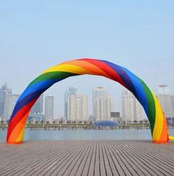 Envío Gratis 20ft * 12ft D = 6 M inflable Arco Iris arco de alta calidad NE