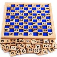 Free shipping kids Montessori teaching aids, Early development toys wooden 1-100 digital building blocks, children's toys недорого