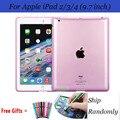Конфеты Прозрачный Чехол Для iPad 2 iPad 3 iPad 4 9.7 мягкий Противоударный Ультра Тонкий Силиконовый Чехол + Free Stylus