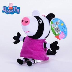 Image 4 - 8 teile/los 19CM Echte Peppa schwein Klassenkameraden Hohe Qualität heißer verkauf plüsch schwein spielzeug Für kinder cartoon puppe geschenk