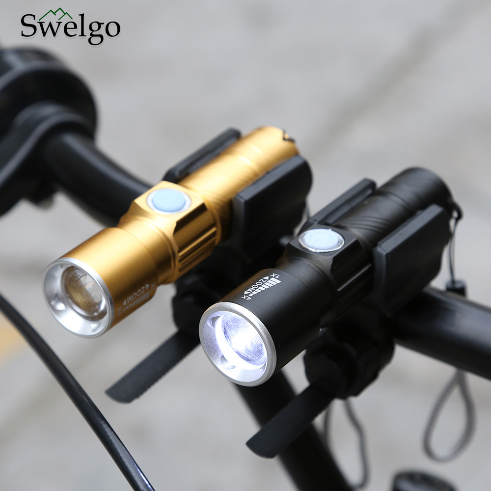 Ultrabright Stretch Lamp 200m Bicycle Front LED Flashlight Bike USB Rechargeable