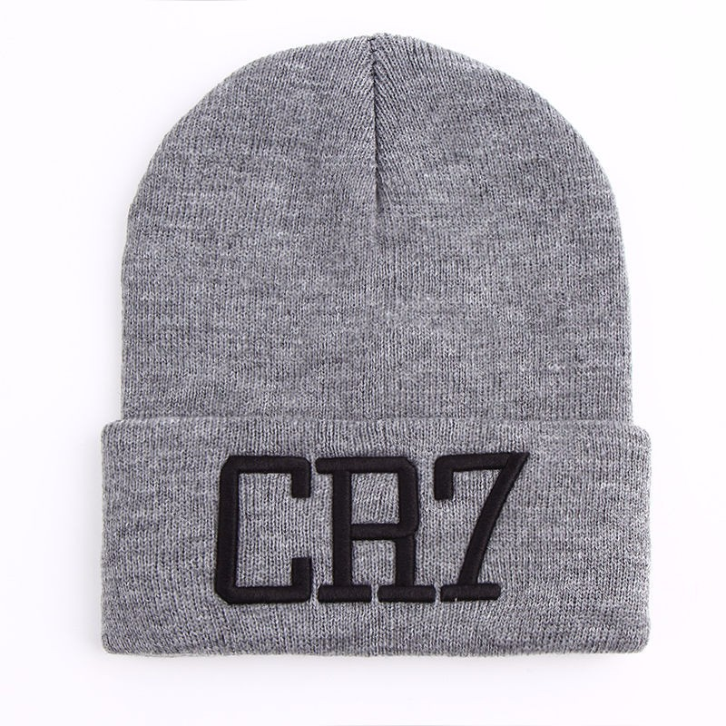6c05a8b516f4c Aliexpress.com   Buy 2018 new men women CR7 embroidered Knit Hat Winter  Hats Skullies   Beanies Cristiano Ronaldo winter Warm Unisex Teenager Hats  from ...