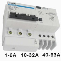 1A 63A 3P Vacuum Circuit Breaker With Leakage Protection 220V 380V