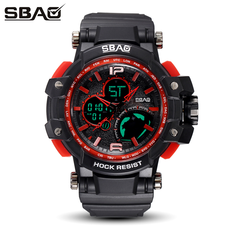 SBAO New Brand Men Digital Watches Women Waterproof Electronic Watches Outdoor Sport Daily Wristwatch Back Light Ladies Clock цена и фото