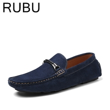 Brand Fashion Summer Men Driving Shoes Loafers Soft Suede Leather Boat Shoes Breathable Male Casual Flats Loafer Men /03