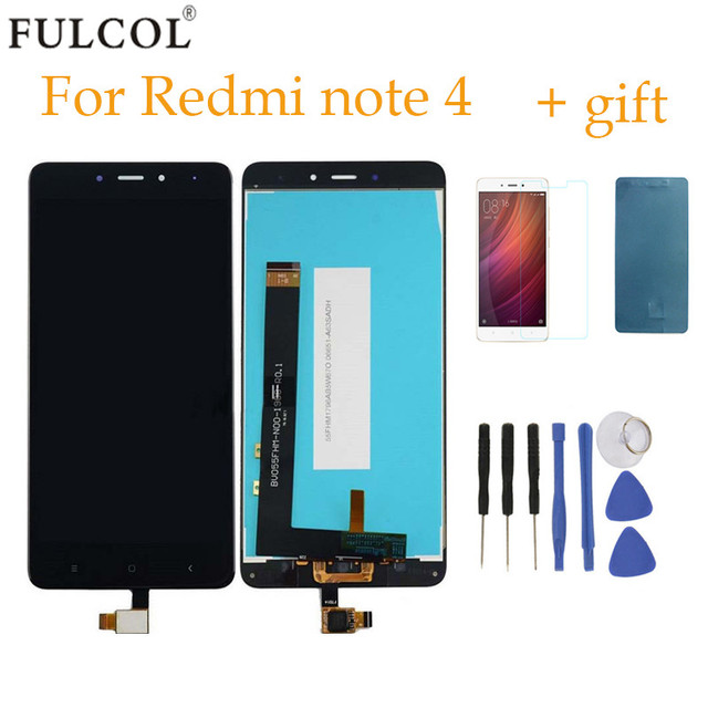 High Quality LCD Display+Digitizer Touch Screen Assembly For Xiaomi Redmi Note 4 Cellphone With Free Tools