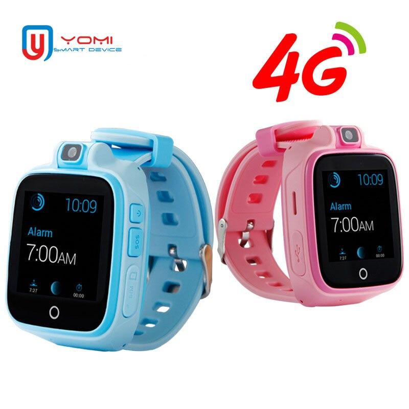 Montre Smart Watch pour Enfants Enfant en Toute Sécurité Moniteur GPS Tracker Enfants Android IOS Bébé SOS À Distance Moniteur Caméra SIM 4g réseau Montre-Bracelet