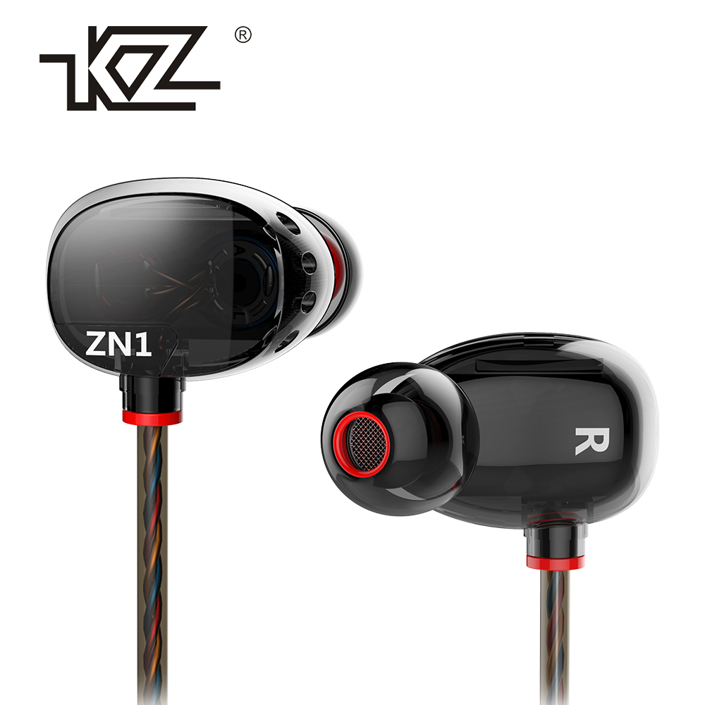 KZ ZN1 mini Dual Driver Headphones Extra Bass Turbo Wide Sound Field In-ear Earphone