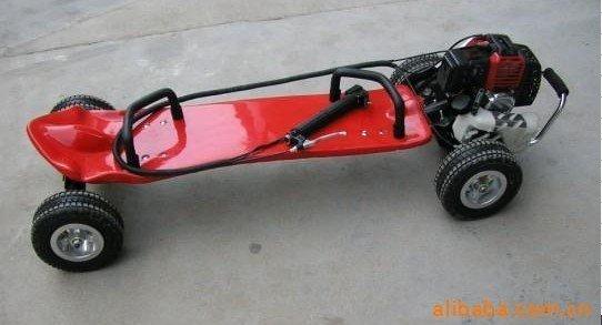 Gas skateboard petrol motor scooter 49cc motorized for Shark tank motorized skates