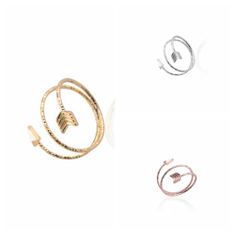 2015 New Fashion Arrow Wrapped Ring for Women Cute Couple Midi Rings