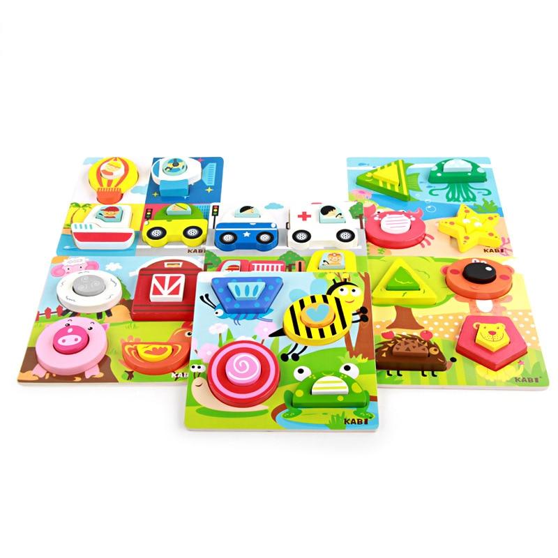 Puzzles Puzzles aus Holz Tiere Block Puzzle 3D-Puzzles Kleinkind Spielzeug