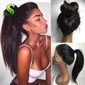 Full Lace Human Hair Wigs Brazilian Virgin Hair Full Lace Wigs Silky Straight Virgin Hair Lace Front Human Hair For Black Women
