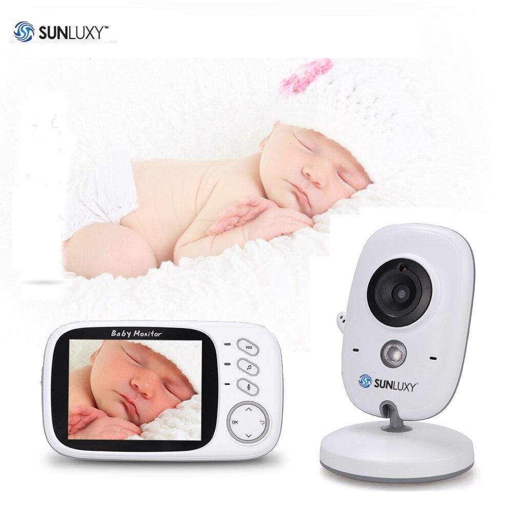 bilder für SUNLUXY Baby Monitor 3,2 zoll 2,4 GHz Drahtlose Farbe LCD Baby kamera VOX Wecker Audio Video IR Nachtsicht Babycam batterie