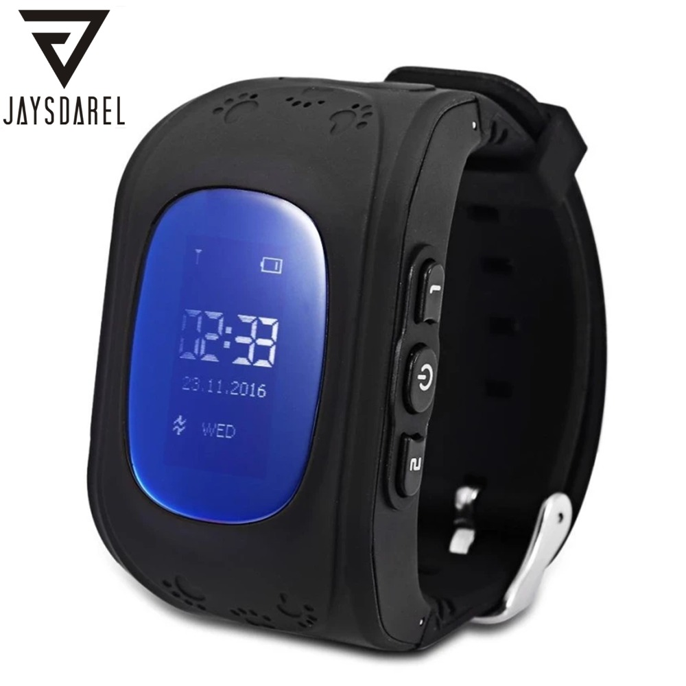 JAYSDAREL Q50 Kids GPS Tracker SOS Call Säkert Keeper Smart Watch LCD-skärm Barn Anti-lost Remote Monitor Armbandsur iOS Android