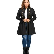 Plus Size Double Flared Chest Long Jacket Winter Fashion Layer Trench Women Large Size Oversized Coats