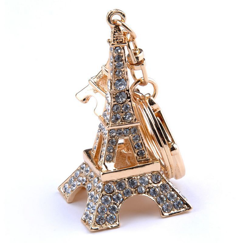 Eiffel Tower Key Chain France Style Romantic Gifts Rhinestone Key Ring  Birthday Gift MPJ531 80eef40d2873