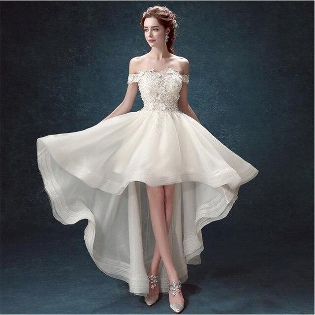 Vestidos De Novia 2015 Wedding Dress Short Front Long Back