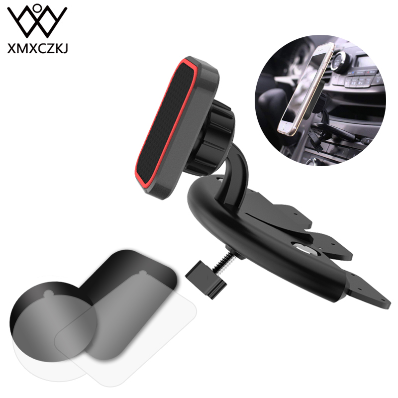 XMXCZKJ Car Magnetic Mobile Phone CD Slot Mount Holder Support For IPhone X 8 Magnet Stand Smartphone Cell Phone GPS Accessories