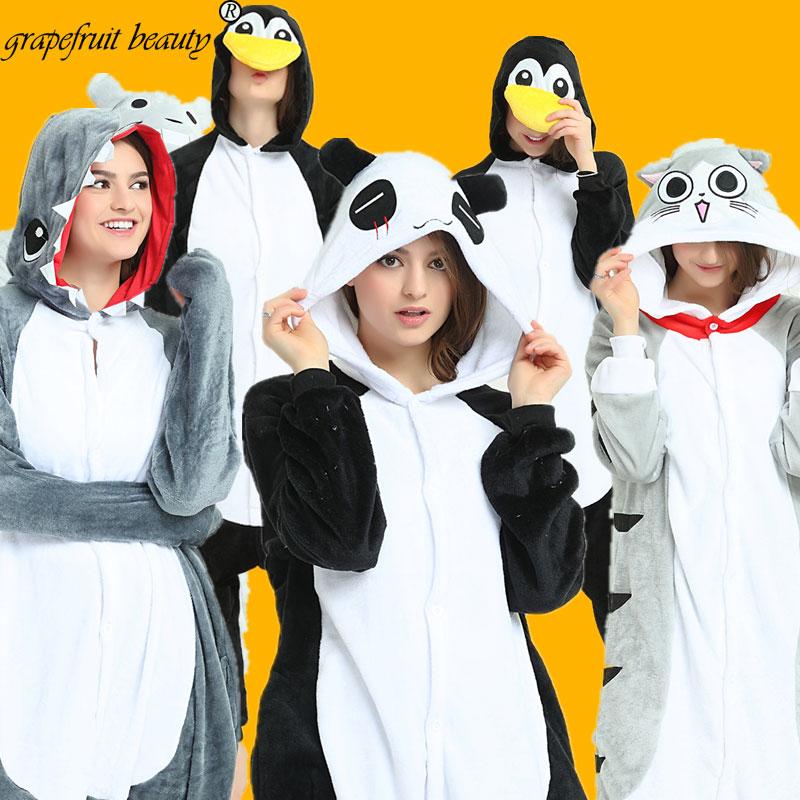 New Kigurumi Gray Wolf Cosplay Unisex Adult Pajamas Costume Sleepwear Pajamas