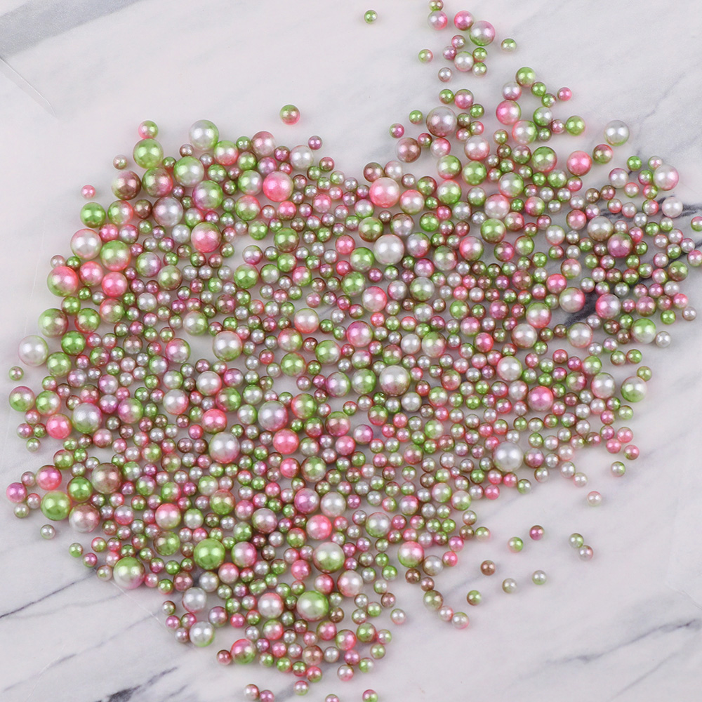 20g Random Mixed Rainbow Color 3/4/5/6mm Pearls Beads ABS Imitation Pearls No Holes Loose Spacer DIY Beads For Bracelet Necklace