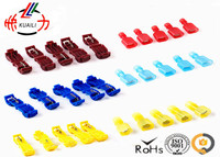 600PCS Quick Splice Connector Terminal red blue yellow Wire Connectors Fully insulated male and female terminal