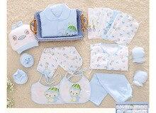 18 Pcs/ensemble Coton Nouveau-Né Bébé Fille Vêtements Impression de Dessin Animé Bébé Garçon Vêtements Ensemble pour Nouveau-Né Cadeau Ensemble