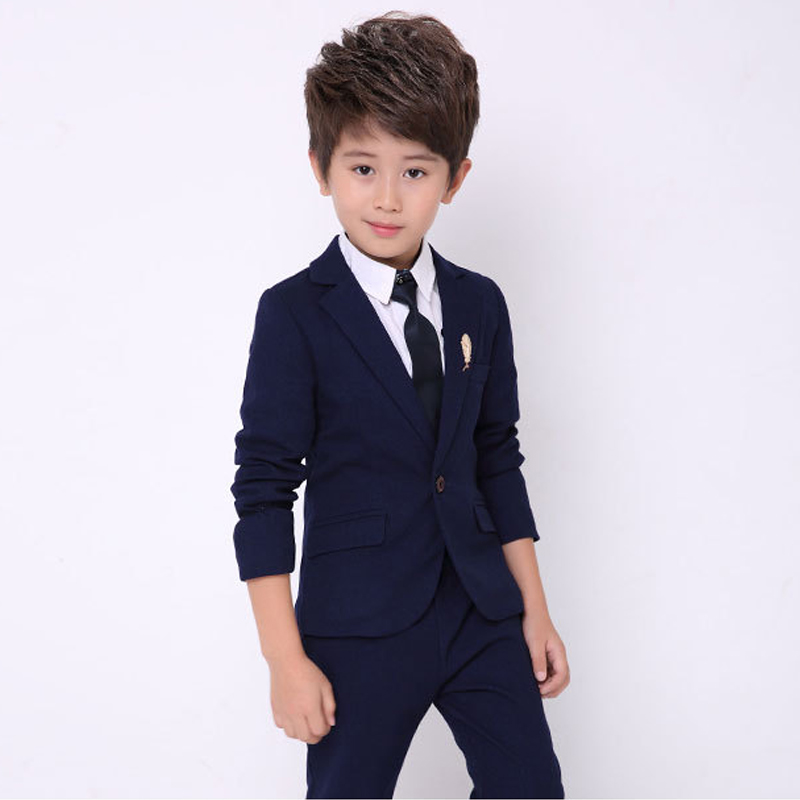 Boys Wedding Suit Kids Autumn Clothing sets 2 Pieces Wedding Tuxedo for Boys Blazer Suit Children Clothes 2 tuxedo