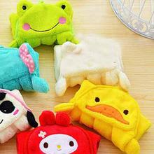 3 Colors Hand Towel  Hanging Hand Cloth Cute Cartoon Animal Coral Fleece Soft Comfortable Kitchen Bathroom