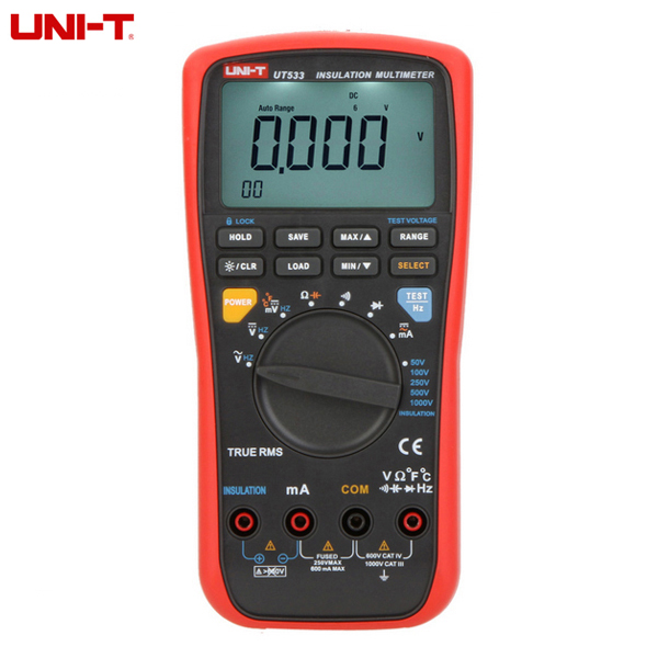 UNI-T Digital Multimeter Capacitance Temperature Tester Megohmmeter Insulation Earth Resistance Meter UT533  цены