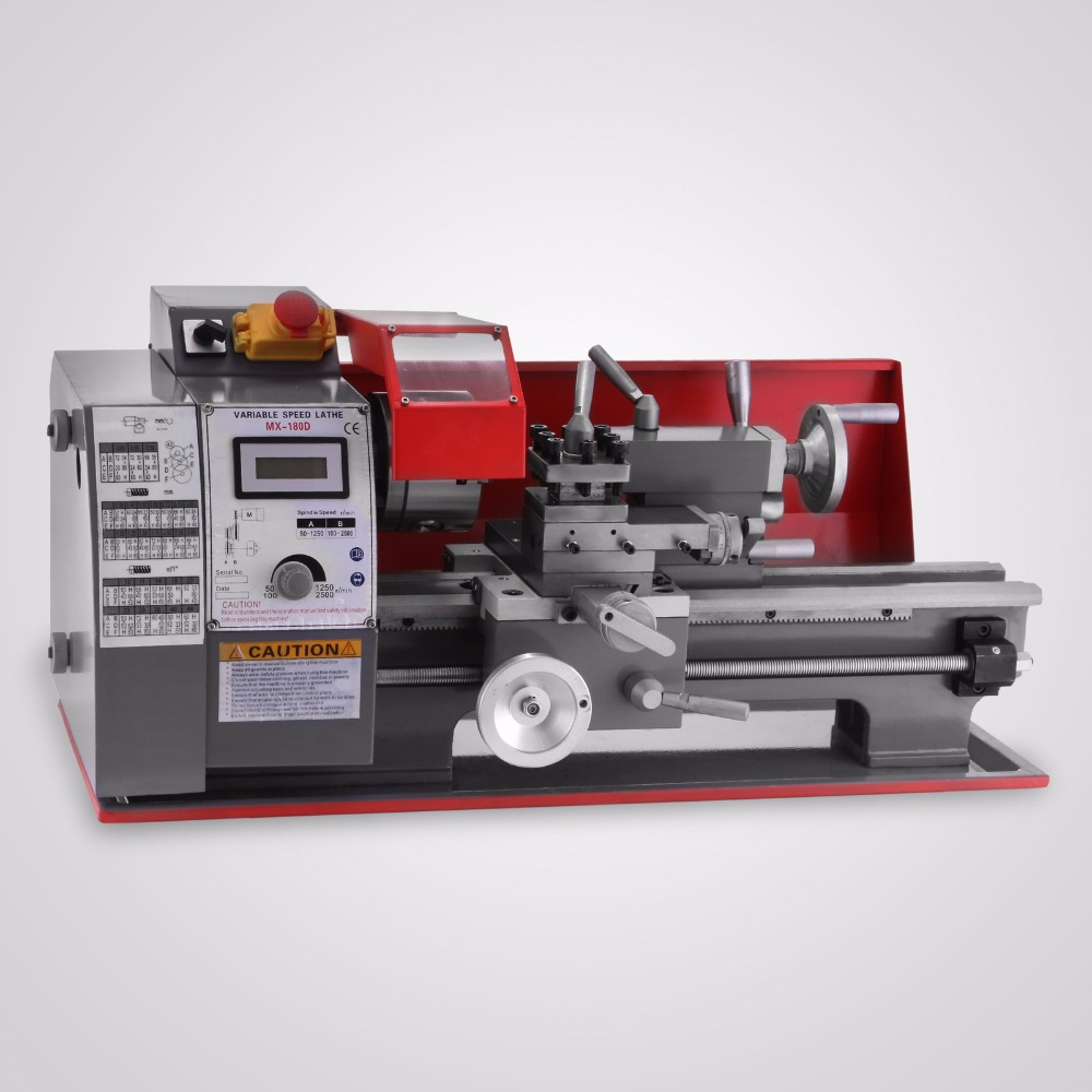100mm Width Of Bed Variable Speed  Lathe 600W Metalworking Processing Precision Mini Metal Lathe