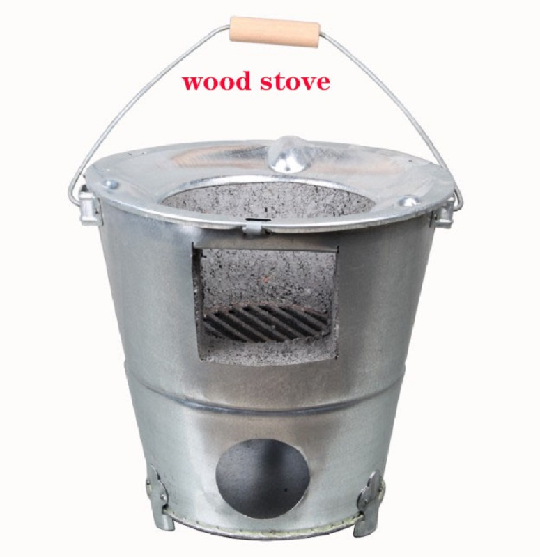 2019 Outdoor camping Portable wood stoves Outdoor barbecue Carbon furnace Heating stove Burning fire Cooking Tea stove image