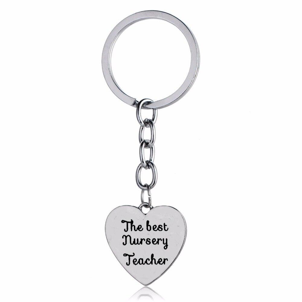 12 Teil/los Die Beste Kindergarten Lehrer Keychain Schmuck Danke Lehrer Keyring Geschenke Liebe Herz Charme Lehrer Der Tag Präsentiert Neue So Effektiv Wie Eine Fee