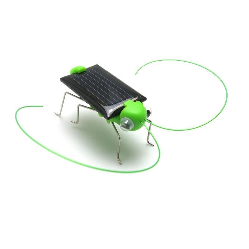 New 4*1.8 cm Solar Power Toy Energy Crazy Grasshopper Cricket Kit Christmas Gift Toys Baby Toys