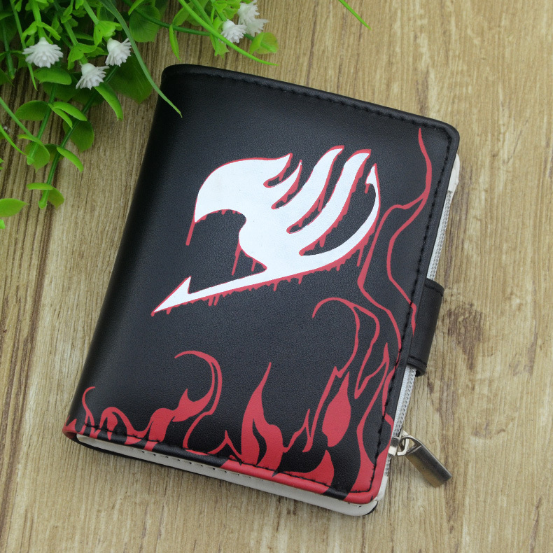 New Anime Fairy Tail Short Bifold Wallets PU Leather Cartoon Cosplay Student Coin Purse цена