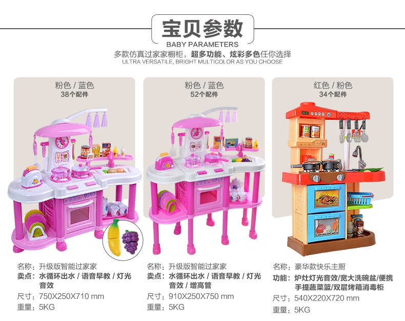 Astounding Children Play Kitchen Set 4 1 2 3 6 Years Old Male Baby Girl Download Free Architecture Designs Jebrpmadebymaigaardcom