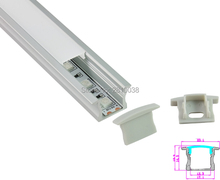 10 Sets/Lot T style Anodized SilverLED aluminum profile AL6063 Aluminium led profile LED Channel profil for recessed floor light