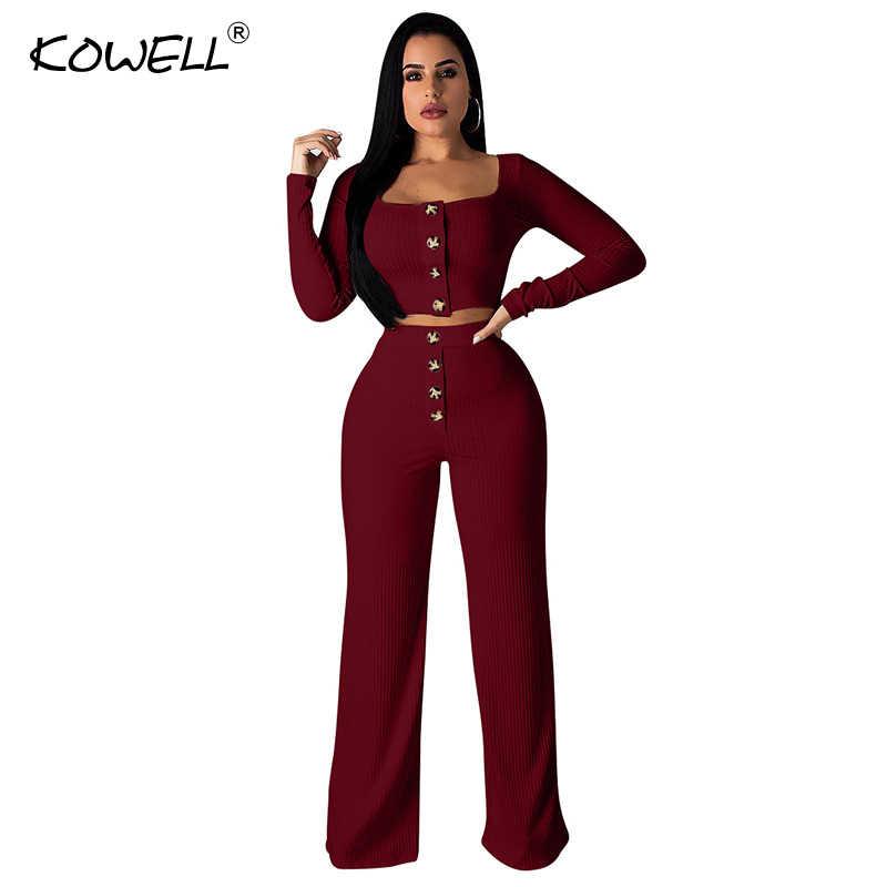 a878438c8c65 ... Hot Sale Knit Jumpsuits For Women Long Sleeve Wide Leg Pants Two Piece  Rompers Autumn Streetwear ...