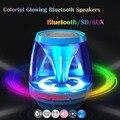 New Magic luzes Mini Bluetooth Alto-falantes Estéreo Sem Fio Handsfree portátil Altifalante Suporte X28 AUS Cartão SD Para O Iphone