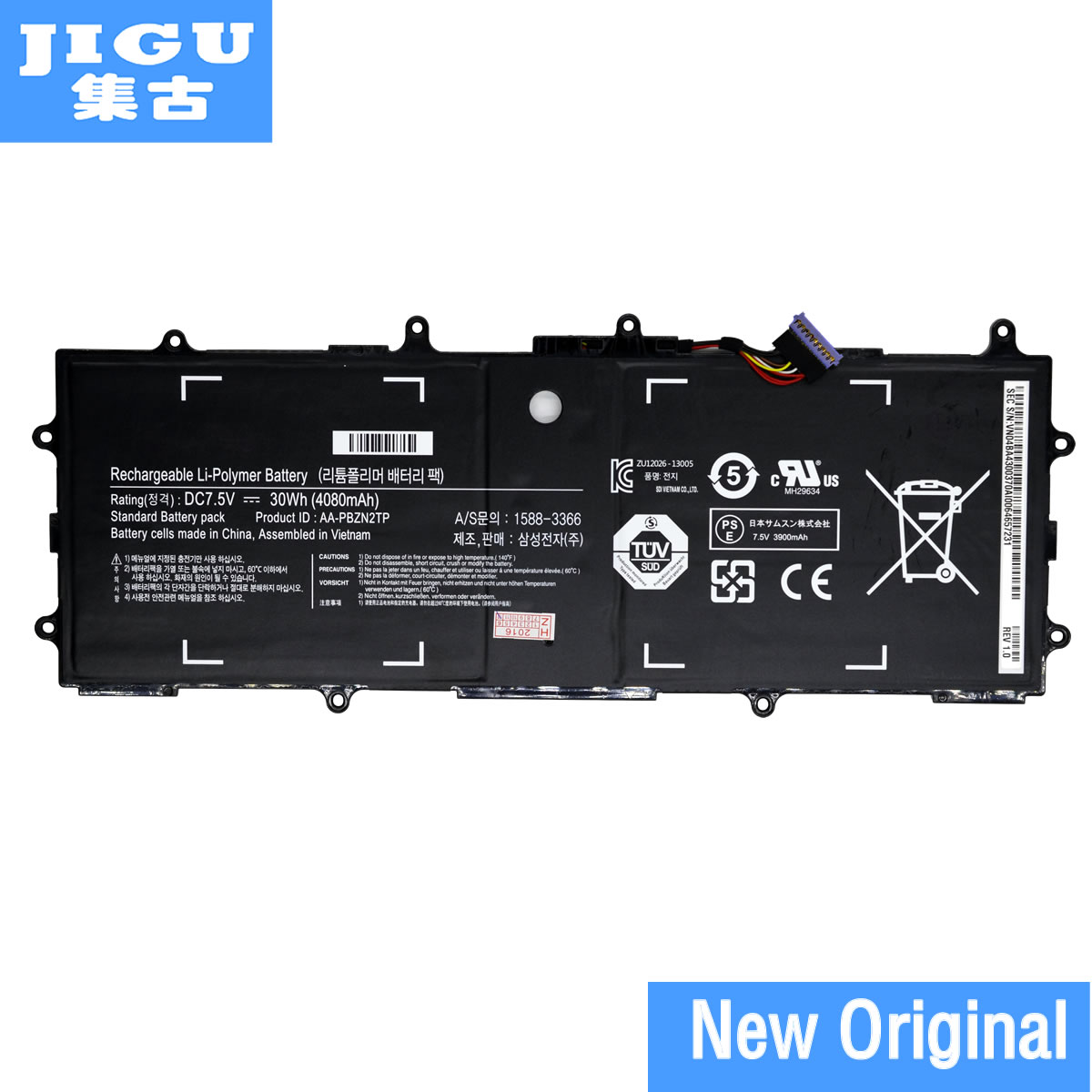 JIGU new genuine AA-PBZN2TP Battery for Samsung Chromebook XE500T1C 905S 915S 905s3g XE303 XE303C12 7.5V 4080mAh