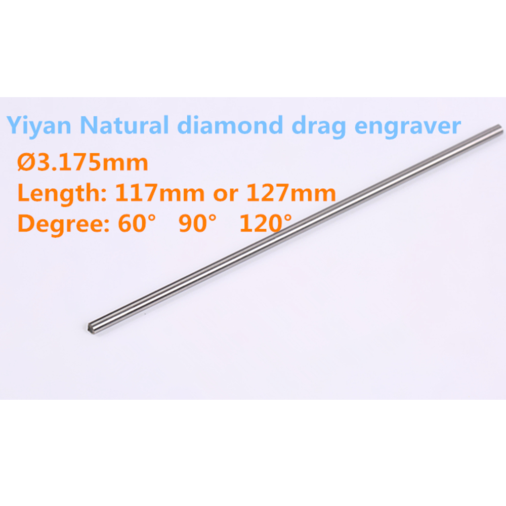 3.175mm Shank Natural Diamond Drag Bit Engraving Tools For Glass Metal Stone Marble For Cnc Machine Use Free Shipping