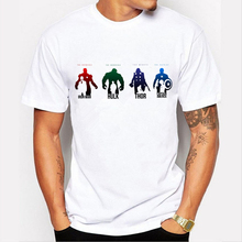 2019 Men Tshirt Captain America/Iron Man/Hulk/Thor Personalized print T-shirt Avengers Boy T-Shirt Brand clothing 89-1#