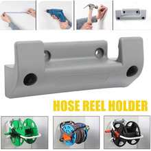 High Quality 1pc Wall-Hanging Water Hose Reel Holder Wall Mount Garden Storage Pipe Fixing Bracket PVC With 4pcs Screws