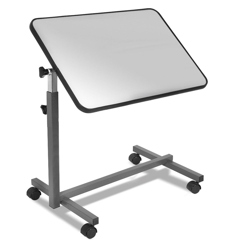 Over Bed Food Tray Small Rolling Computer Table Desks Laptop Table for Bed Height Adjustable Desk for Working HW49070
