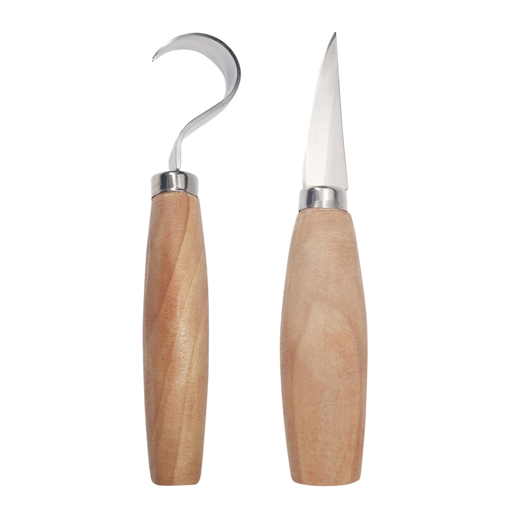 Spoon Carving Set Woodcarving Tool Crooked Cutter Hooked Whittling Cutter DIY