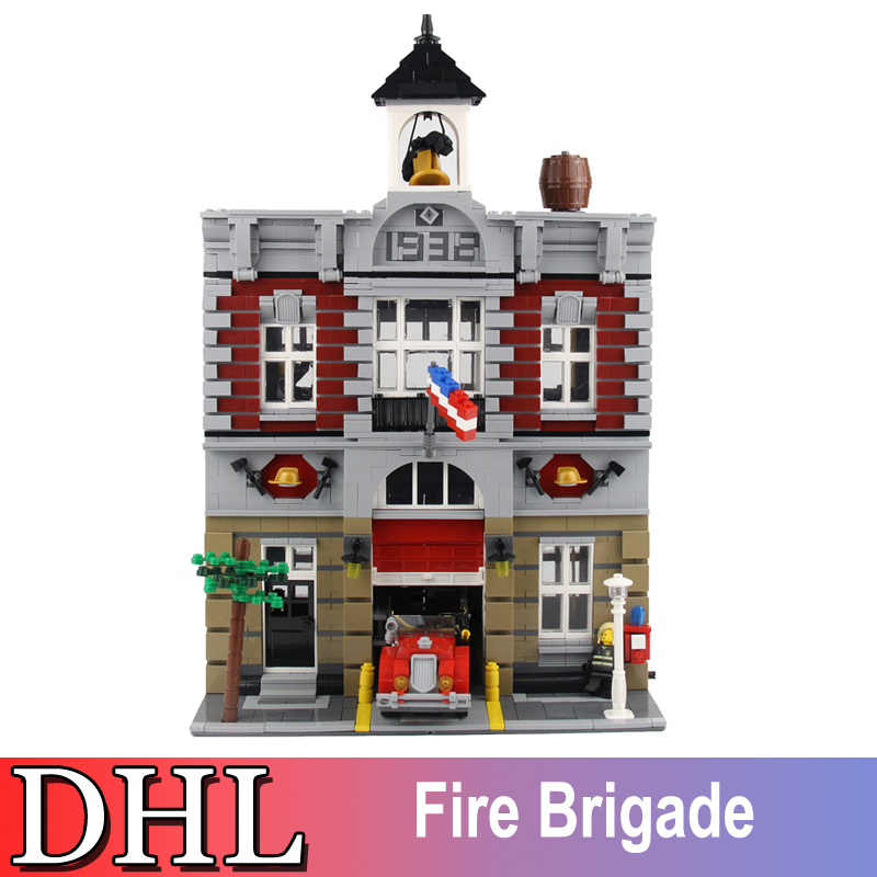 2018 New 2313Pcs City Street Model Building Kits Blocks Bricks Figured Fire Brigade Toys For Children Gift Compatible With 10197 lepin 02012 city deepwater exploration vessel 60095 building blocks policeman toys children compatible with lego gift kid sets