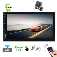 Android Support 1080P by 7'' Capacitive Screen 2 Din Car Head Unit with Quad Core CPU 2GB RAM 16GB ROM Support Radio GPS Navi