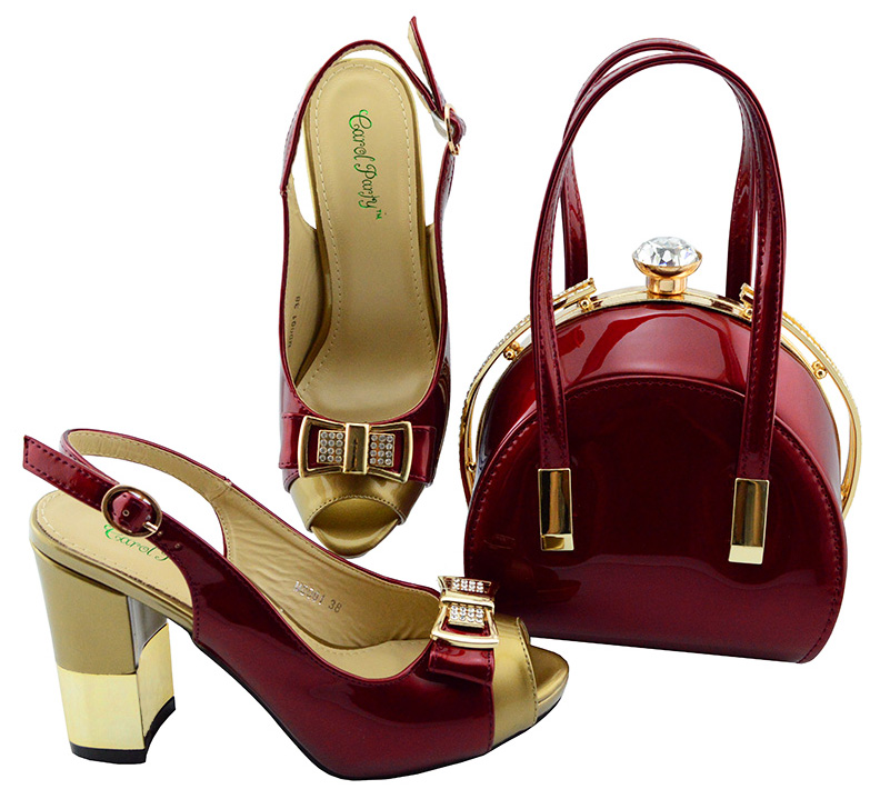 Wine Color Italian Shoes with Matching bags For Party african Shoes And Bags Set For Wedding Party Shoe and Bag Sets set 2018 new arrival pink color italian shoe with matching bags shoes and bag set african sets 2018 shoe and bag italian design sets